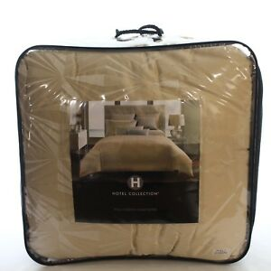 Hotel Collection Crystalle FULLQUEEN Comforter CHAMPAGNE Bedding $360 i1285