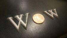 """Petit 1"""" fonte d'aluminium lettres métal signe les écrivains plaque Job Lot 500+"""