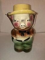 Nice Vintage Robinson Ransbottom Pottery Sheriff Pig Cookie Jar Marked RRP CO