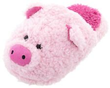 NEW Fuzzy Cute Pink Pig Slippers for Women Animal Slip-On Plush Novelty