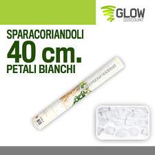 SPARA CORIANDOLI PETALI BIANCHI 40 cm tubo sparacoriandoli party capodanno 34251