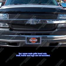 Fits 2001-2002 Chevy Silverado 2500/3500 Black Billet Grille Grill Insert