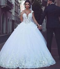 Lace Wedding Dresses Bridal Ball Gowns A Line Sweetheart Neck Floor Length 2019