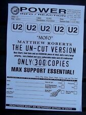 "U2. MOFO. 12"" PROMO INSERT MATTHEW ROBERTS EXPLICIT REMIX. COPY. NO RECORD."