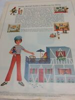 1966 VINTAGE BETSY MCCALL MCCALLSBUILDS A DOLLHOUSE FOR PAPER DOLLS UNCUT UNUSED