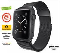 phelx Edelstahl Milanaise Armband für Apple Watch 38mm & 40mm - Schwarz