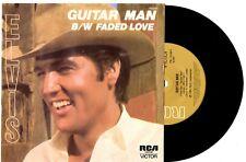 "ELVIS PRESLEY - GUITAR MAN / FADED LOVE - 7"" 45 VINYL RECORD WRAP SLV 1981"