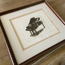 Bailey Tidwell Original Signed Limited Edition Etching Piano Ain't That Grand