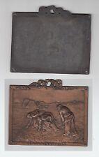 +gertbrolen+ Médaille  Scène Champêtre Les Glaneuses Grande Plaque