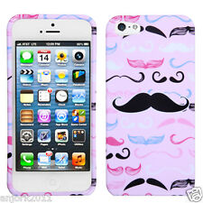 APPLE iPHONE 5 SNAP-ON COVER HARD CASE PHONE ACCESSORY CUTE MASTACHES