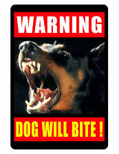 WARNING DOG SIGN DURABLE WEATHER PROOF ALUMINUM SIGN NO TRESPASSING SOLICITING