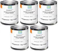 22,00€/kg 5x1kg WARNEX Strukturlack schwarz sw halbmatt Strukturfarbe Boxenfarbe