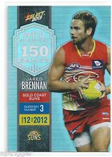 2013 Champions AFL Milestone Game (MG30) Jared BRENNAN Gold Coast