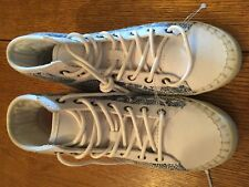 NEW! Girls Roxy Hi-top Lace Up Sneakers Billie Blue and White Sz Y6 MSRP 60.00