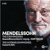 Kurt Masur - Mendelssohn: The Complete Symp 6 CD Set New
