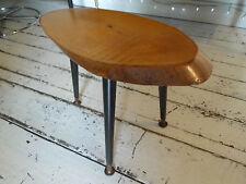 VINTAGE log Slice Caffè/Side Table sulla DANSETTE gambe