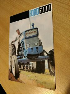 FORD 5000 THE ICONIC TRACTORS COLOUR FARMING PRE USED TRACTOR BROCHURE SUPERB