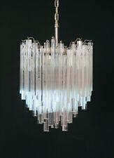 Vintage Murano chandelier – 92 trasparent prism triedri