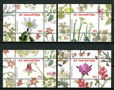 St Maarten 2016 MNH Flowers Series II 4x 1v S/S Nos 5-8 Plants Nature Stamps