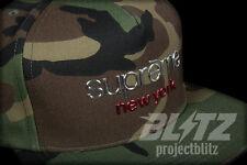 Supreme CHROME CLASSIC LOGO 5 PANEL CAP HAT CAMO FW16