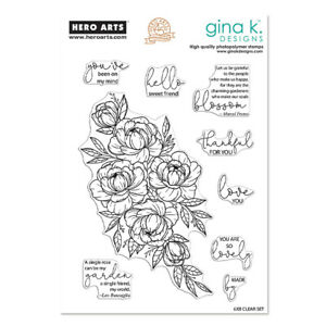 """Hero Arts + Gina K Designs """"FRIENDSHIP BLOOMS"""" Clear Photopolymer Stamps 2019"""