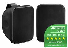 Paar DJ PA Outdoor Lautsprecher Garten Terrasse Wand Boxen Speaker IP56 2x 80W