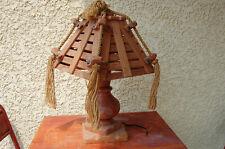 """LAMPE ANCIENNE CORDAGE & BOIS , CORDE . DLG :  """"Audoux Minet """""""