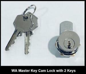 WAS Meter Box Cam Lock 2 Keys