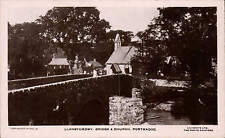 Llanstumdwy. Bridge & Church, Portmadoc # PTMO 18 by Lilywhite.