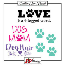 4 Stickers Dog Mom Pack Car Decals Puppy Paw Pitbull Frenchie Adopt Corgi Love