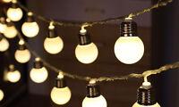 10 Battery Operated LED Festoon Indoor Retro Bulb Light Fairy String Lights Xmas