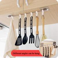6 Hook Cup Holder Firm Hang Under Kitchen Shelf Storage Rack Organiser Hook 1pcs
