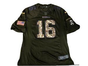 NFL Oakland raiders jersey #16 PLUNKETT camo Salute To Service NIKE LARGE Rare