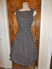 Round Neck Spotted Dresses for Women's 1950s