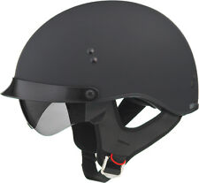 Gmax GM65 Solid Full Dressed Half Helmet Motorcycle Scooter LARGE Flat Black