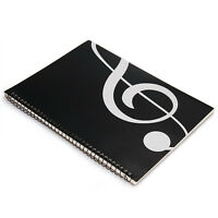Newest Stave Book Music Sheet Manuscript Paper A4 40 Pages Black