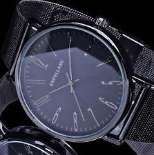 Excellanc Uhr Damenuhr schwarz Anthrazit Mesh Armband
