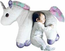 Large 80cm Cute Plush Unicorn Teddy Stuffed Super Soft Cuddly Toy Lying Horse WT