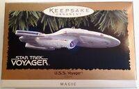 STAR TREK U.S.S. VOYAGER  Lighted Magic Ornament Hallmark Keepsake 1996 RARE NOS