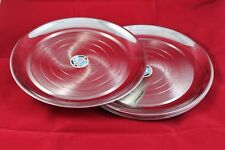 Stainless Steel 6 Dinner Plate Set- Lot of 6 Kitchen Plates Kitchenware