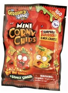 The Grossery Gang Mini Corny Chips 1 Grossery Milk Crate 1 Guide Moose Toy NEW!