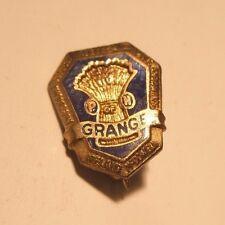 P of H Grange Ireland Vintage Enamel Lapel Pin gift Patrons of Husbandry
