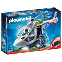 PLAYMOBIL 6874 City Action POLIZEI Police Helicopter With LED Searchlight