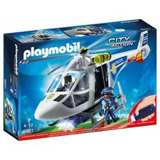 PLAYMOBIL 6921 Police Helicopter with LED Searchlight Brand New Sealed