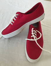 Keds Oxford Canvas WF8361 Red Womens US size 7 Sneaker New