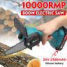 800W elektrische Akku-Kettensäge Kettensäge mit 2 Batterien Einhandsäge