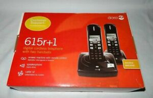Doro 615r+1 Cordless Phone - Answering Machine, Speakerphone, 2 Handsets