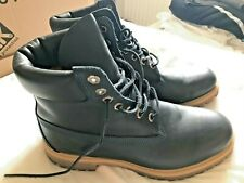 Timberland Premium Men's Ankle Boots, Size 10W - Blue Smooth Leather