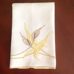Marghab Calla Lily Hand Embroidered Towel Excellent