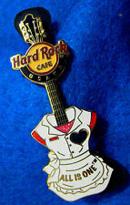 OSAKA WHITE STAFF GIRL'S SERVER UNIFORM GUITAR CUT OUT HEART Hard Rock Cafe PIN